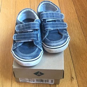 Sperry Topsiders Blue boys sneakers size 6.5W